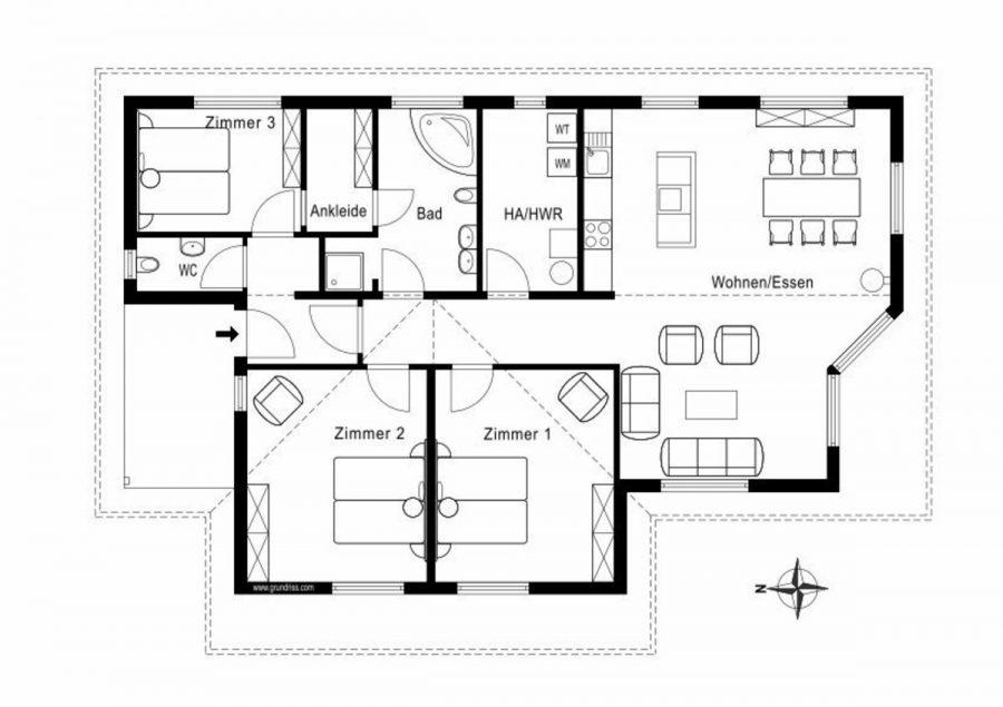 Niedrigenergiehaus in sehr gepflegtem Zustand in grüner Ruhiglage von Falkensee zu verkaufen! - Grundriss