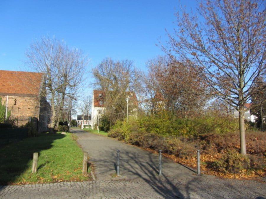 Tolle 2-Zimmer-Wohnung in Berlin-Blankenburg (Pankow) - Blick zum Dorfanger
