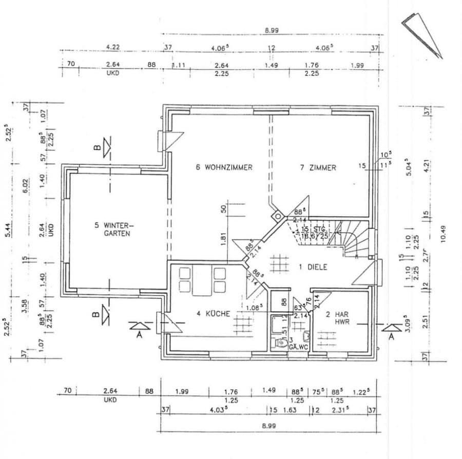 Einmalig! Derzeit vermietetes Einfamilienhaus mit 5 Zimmern in Brieselang! - Grundriss EG