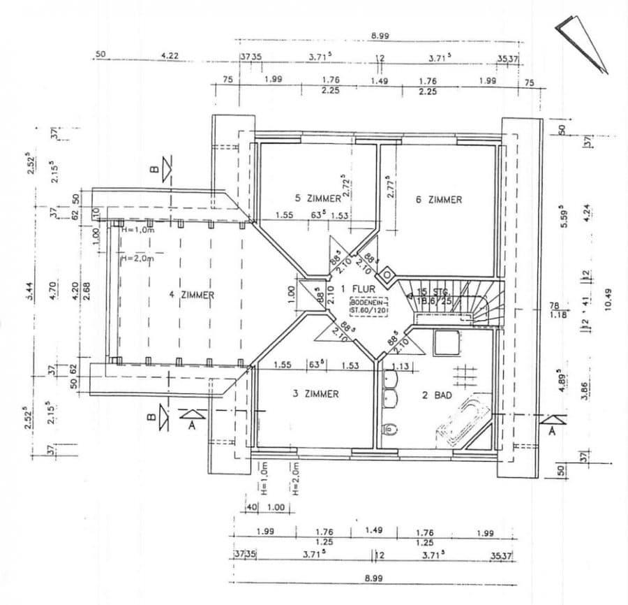 Einmalig! Derzeit vermietetes Einfamilienhaus mit 5 Zimmern in Brieselang! - Grundriss-OG